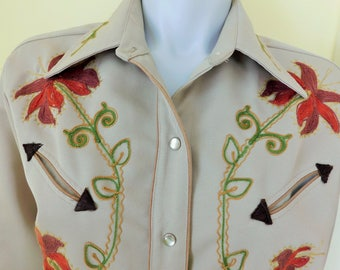 Vintage, H Bar C, California Ranch Wear, Women's Size 38, Made in  USA, 100% Polyester, Pearl Snap, Western Shirt