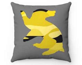 Hufflepuff Multicolor Throw Pillow