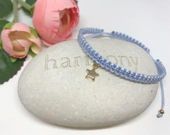 "Macrame bracelet ""Shine bright like a star"" - adjustable"