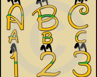 Pluto Alphabet Letters & Numbers Clip Art Graphics - Disney Font