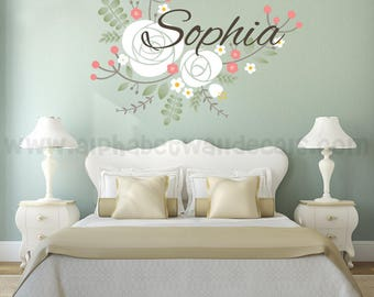 Name Wall Decal - Nursery Wall Decal - Children's Wall Decal - Monogram Wall Decal, Girls Room Wall Decal, Wall Decal, Nursery Decal 02-0001