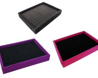 velvet jewelry display case for rings for cufflinks black velvet case hot pink