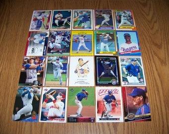 100 Texas Rangers Baseball Cards