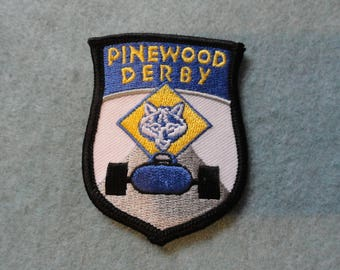 Cub Scouts Pinewood Derby Patch  - FREE Shipping