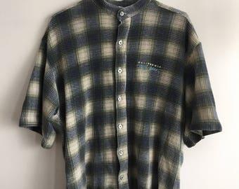 Vintage baseball button shirt