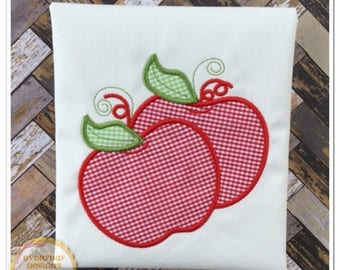 ON SALE Double Apple Machine Embroidery Applique Design