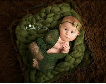 Baby Photography Prop SUPER CHUNKY Blanket