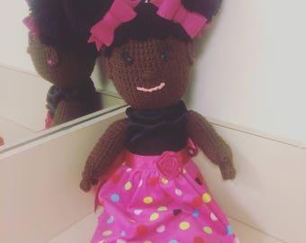 "18"" Crocheted Doll"