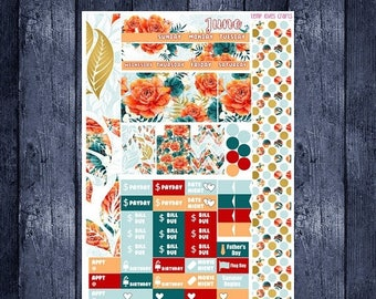 On Sale June Floral Monthly Stickers for Personal Planner Sew Much Crafting Month View