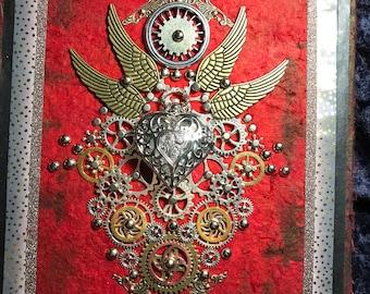 Steampunk clock  journal