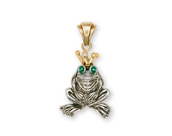 Frog Pendant Jewelry Silver And Gold Handmade Frog Pendant FG18-TTP