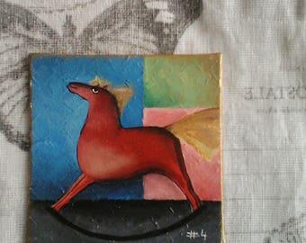 Wander Hues/ 10x10 cm/ Tiny original acrylic painting