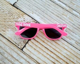 Kids personalized sunglasses, Petal Patrol, Petal Princess, Flower Girl Gifts, toddler sunglasses, youth glasses, summer vacation sunglasses