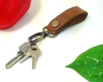 Lanyard leather keychain (buy 1 bonus 1)