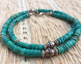 Necklace made of Tibetan turquoise by transition TIBETgalerie turquoise Necklace