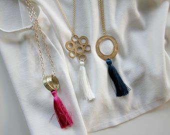 Tassel necklace | Choose your color