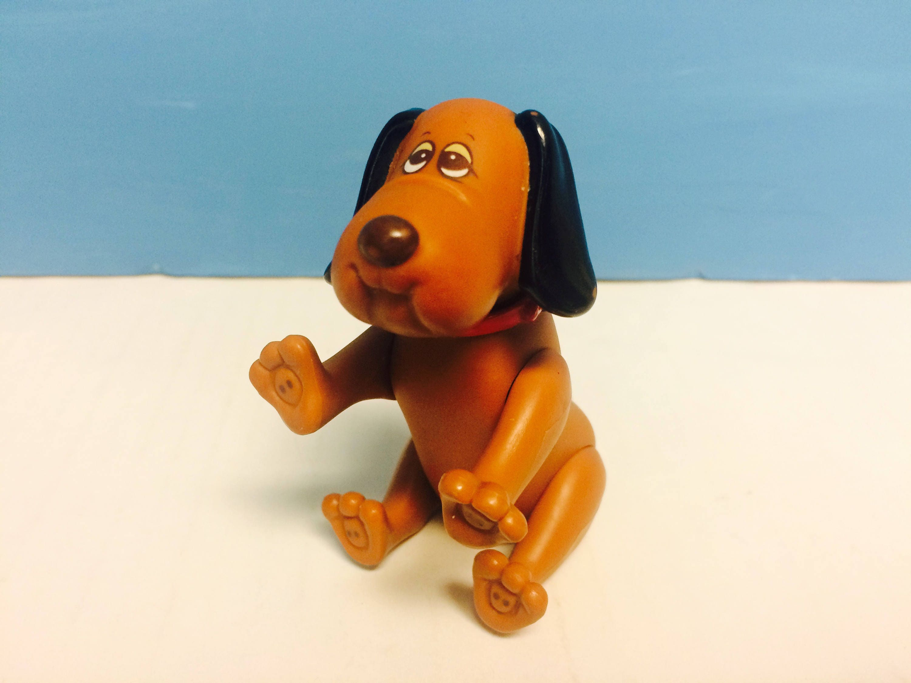Vintage Pound Puppies Puppy PVC Figure Poseable Dog 1980s