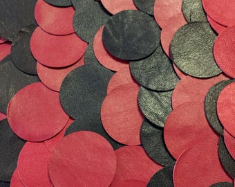 100 PCS Leather / Leather Scraps / Leather Pieces / Upcycled Leather / Recycled Leather / Colorful Leather /Leather Earrings /Trimming