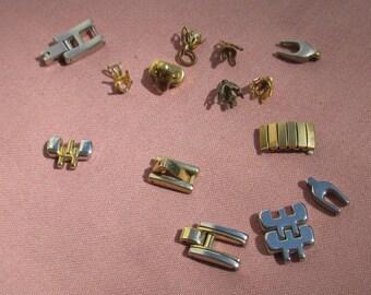 Lot Of Salvaged Watch Bracelet Metal Links Bead Caps