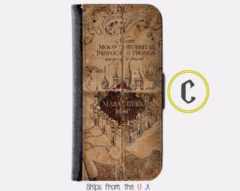 iPhone 6 Case - iPhone 6 Wallet Case - iphone 6 - iPhone 6 Wallet - Harry Potter iphone 6 case C - Marauder Map iphone 6 case