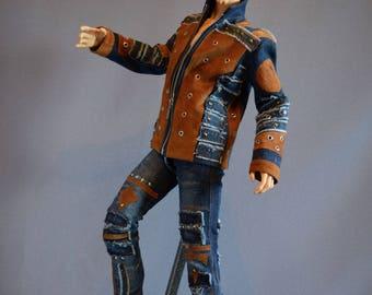 Denim Jacket and jeans for 5th Motif, Iplehouse EID, Soom ID72, Dollshe 28M, Impldoll Idol72, doll jeans, bjd pants, doll clothes, bjd jeans