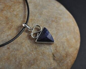 "Pendant Sterling Silver ""Lapis Lazuli"" model ""Peace"""