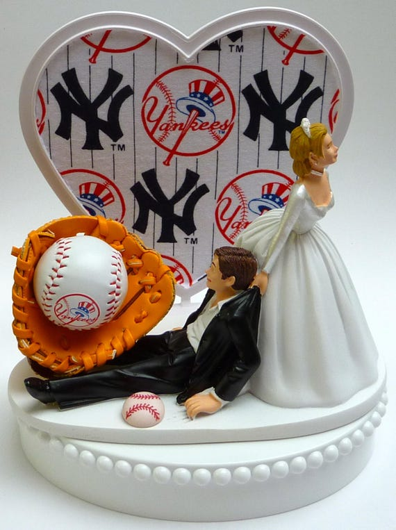 new york themed wedding cake toppers wedding cake topper new york yankees ny baseball themed w 17834