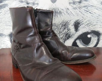 SUMMER SALE 60s / 70s Men's Leather Boots by Coburne Square / 8.5