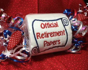 Official Retirement Papers Gag Gift Toilet Paper