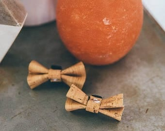 Cork Bow Tie for Pet Collar