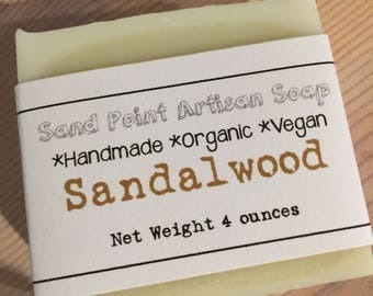 Sandalwood Organic Vegan Soap
