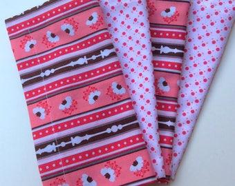Cloth Napkins - Optional Bright Pinks 5 sets of 4