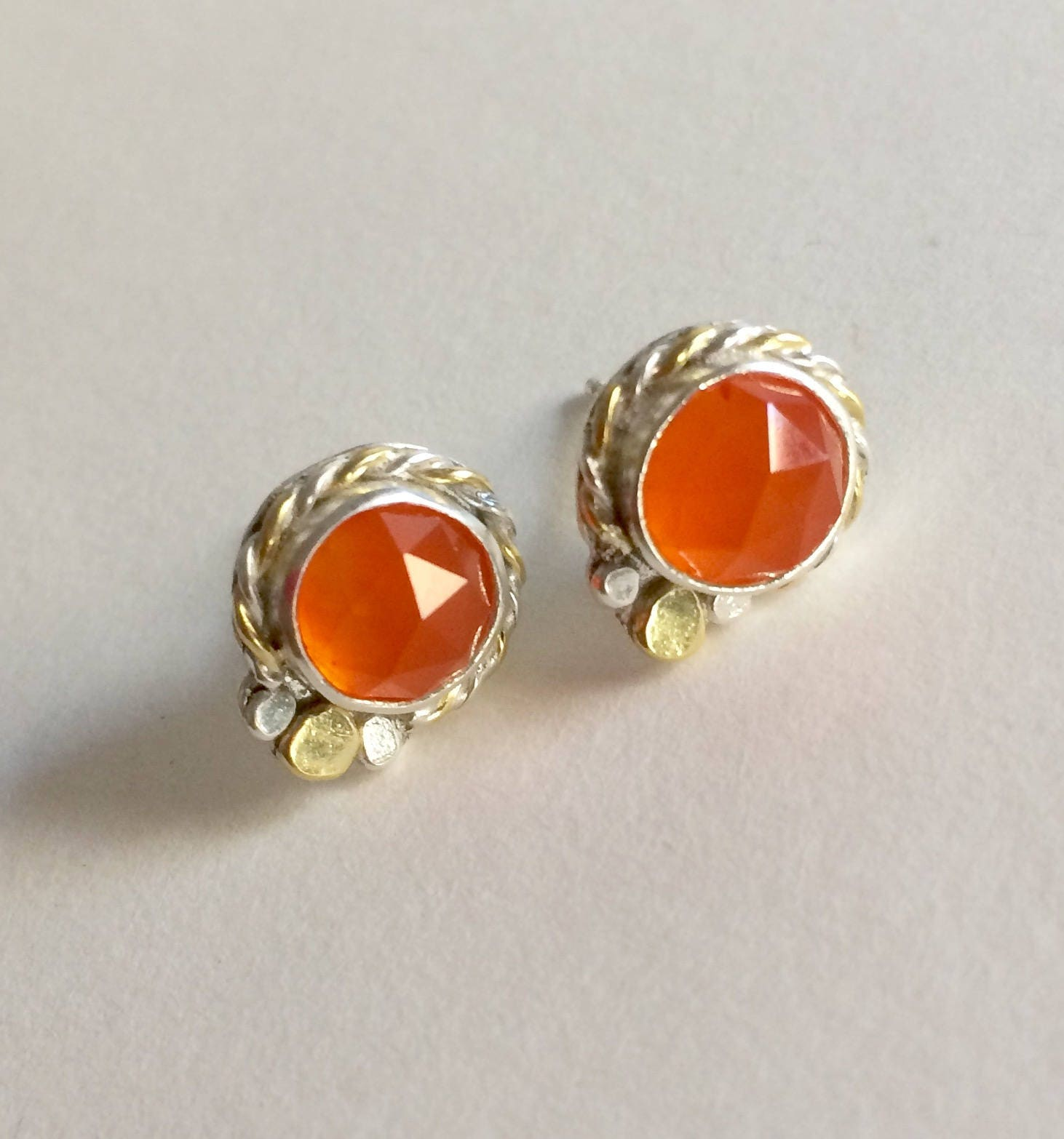 carnelian earthwhorls earrings llc african clay products
