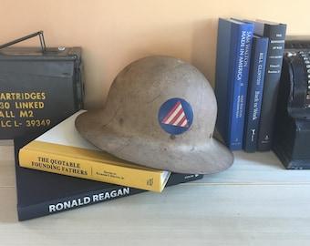 WWII U.S Civil Defense Air Raid Military Helmet
