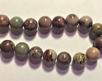 "15"" Strand CrazyHorse Stone (Natural) 8mm Round Beads"