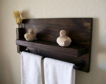 Bathroom Shelves Towel Rack Bathroom Shelf Wall Shelf Wood Shelf Floating  Shelf Toilet Paper Holder Bathroom