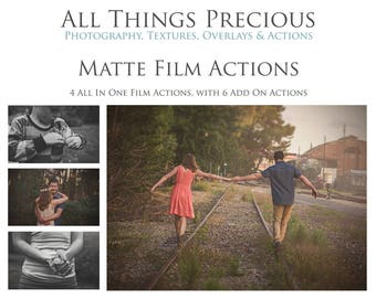 10 Beautiful Fine Art Digital MATTE FILM ACTIONS