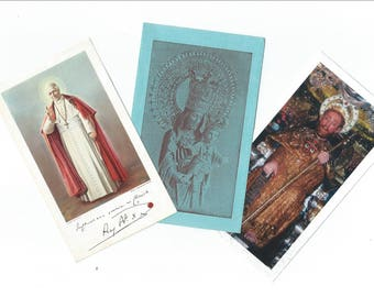 3 Vintage Religious Saints Card - Holy Cards with prayer - S13