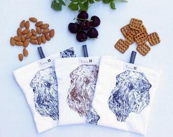 Set of 3 Reusable Food Grade Snack and Sandwich Bag - Reusable Snack Bag - Reusable Sandwich Bag - Lunch Bag - Fabric Snack Bag - Dryer Safe