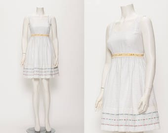 white striped day dress vintage 1950s • Revival Vintage Boutique