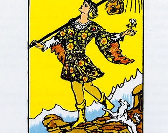 Tarot Card / Illustration / The Fool / 1989 / Wall Art / Home Decor / nursery art
