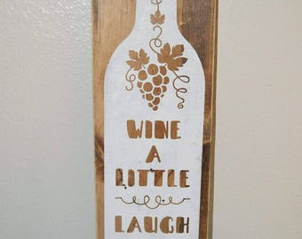 Ready to ship | Wine sign | wine decor | wood sign
