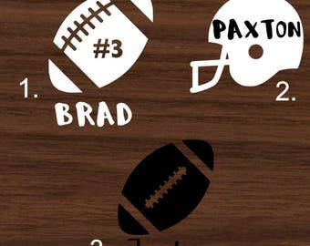 Personalized Football with Name Decal | Football Themed Yeti Decal | Helmet RTIC Decal | Football Themed Car Decal