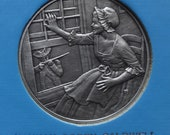 DAR The Great Women of the American Revolution-Caldwell and Corbin— Fine Pewter Medals-Franklin Mint-1974-Mother's Day