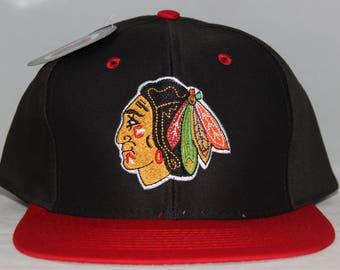 Vintage Deadstock Chicago Blackhawks NHL Snapback Hat