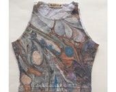 Hand Marbled Crop Top SMALL