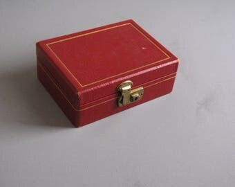 Vintage Small Size RED Jewelry Box