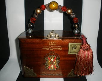 Opus X Cigar Box Purse, Cigar Box Handbag, Authentic, Tampa
