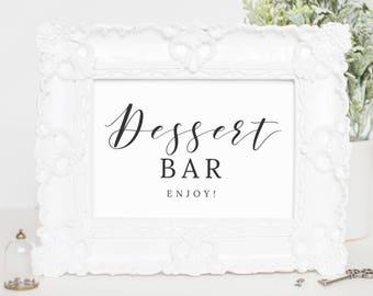 Dessert Bar Sign, Printable Dessert Table Sign, Wedding Dessert, Dessert Bar Decor, Wedding Sign Dessert, Calligraphy Wedding Sign, WP007_14