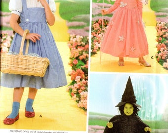 Simplicity WIZARD of OZ Costumes Pattern 4139 DOROTHY Glinda Wicked Witch Child  Sizes 3 4 5 6 7 8